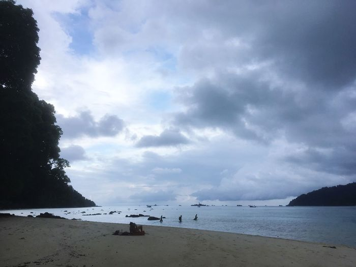 Thailand Water Sky Sea Cloud - Sky Beach Land Scenics - Nature Beauty In Nature Tranquility Nature Tranquil Scene Horizon Incidental People Sand Horizon Over Water Holiday Day Outdoors Travel