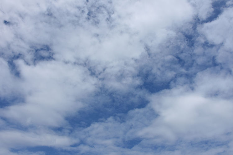 Blue sky with