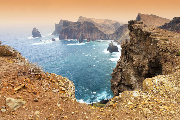 Atlantic Atlantic Ocean Bay Bay Area Beauty In Nature Cape  Madeira Madeira Island Nature Ocean Outdoors Portugal Promontorio Promontory Rocky Sao Lourenco Scenics Sea Sunset Tranquil Scene Tranquility Water Water Reflections