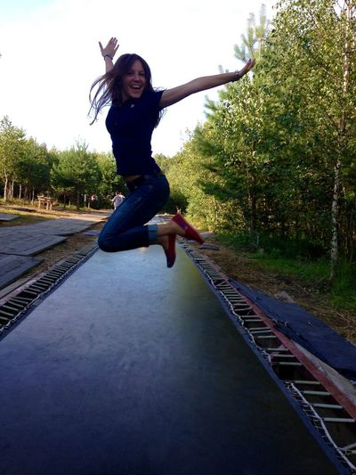 A bit more pics of wonderful place Nikola-Lenivets and me) Casual Clothing Enjoyment Full Length Fun Funny Faces Funny Friday Girl Happy People Jump Jumping Jumpshot Leisure Activity Lifestyles Nikolalenivets Nikolo-lenivets Outdoors Person Portrait Young Women