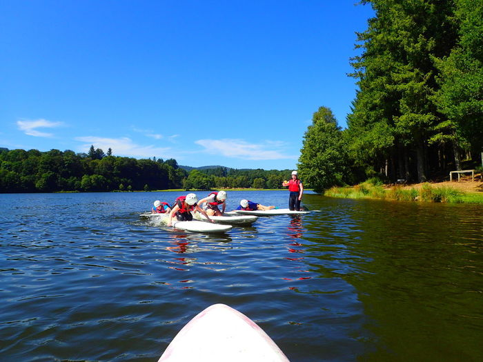 Boarding Fance Adventure Lake Leisure Activity Lifestyles Nature Nautical Vessel Outdoors Paddleboarding Real People Sechemailles Sky Summer Water Waterfront