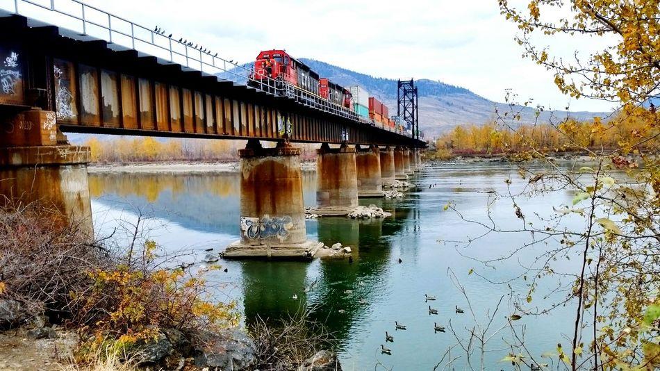 Railway Bridge. Kamloops Falltime Octoberfest Site Seeing Bikeride Sky And Clouds Railway Cnrail Killingtime Eye4photography  EyeEm Gallery EyeEm Rivers