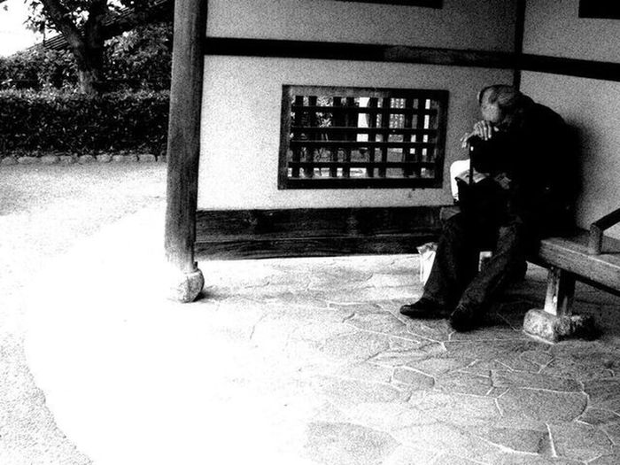 One Person Real People Building Exterior Day Oldman OldMemories Full Length Sitting Streetphotography The Week On EyeEm Mix Yourself A Good Time Monochrome Blackandwhite Photogenic  Photooftheday Snapshot Snapshots Of Life Snap Portrait Canonphotography 세계 EyeEmNewHere Onomichi Walking Around Exploring This Is Masculinity