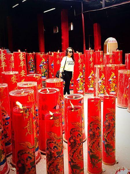 Beutiful  Vihara Big Candle Red Indoors  Love ♥ Vintage