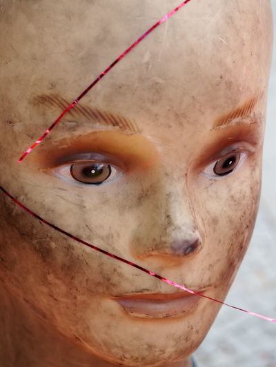 Adult Close-up Day Dirty Face Human Eye Mannequin One Person People Plastic Plastic People Portrait TCPM