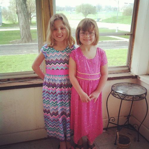 Both girls picked out dresses yesterday as part of their summer shopping trip! Yep even Marissa is in a dress!!