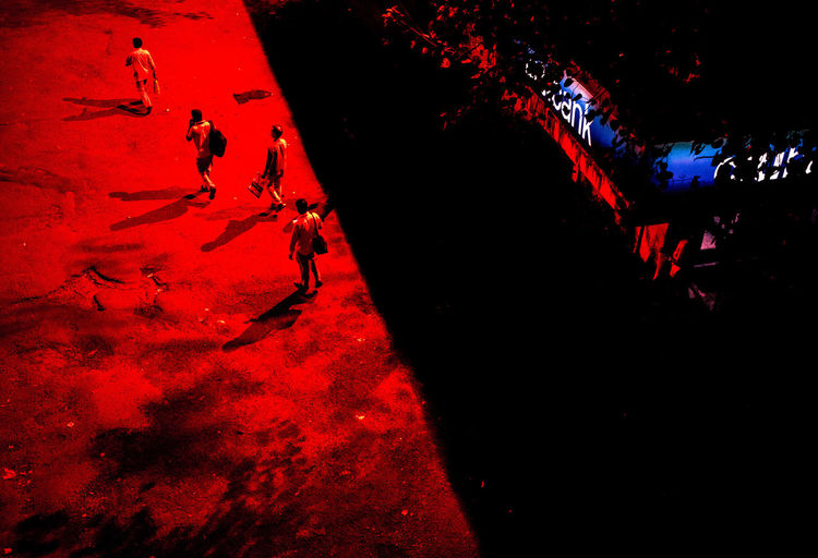These are all pictures from a series I call Mumbai Noir, where I walk around the city at night through to capture scenes & show the city through my artistic vision. The Creative - 2018 EyeEm Awards Architecture City Dark Group Of People High Angle View Illuminated Leisure Activity Lifestyles Men Nature Night Outdoors People Real People Red Shadow Silhouette Street Unrecognizable Person Water HUAWEI Photo Award: After Dark
