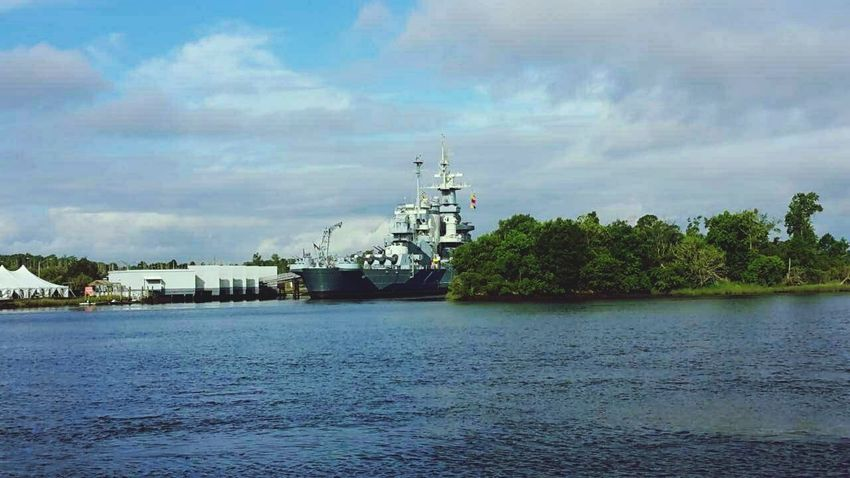 Battleship Wilmington NC Cape Fear River Sky River Beautiful Day