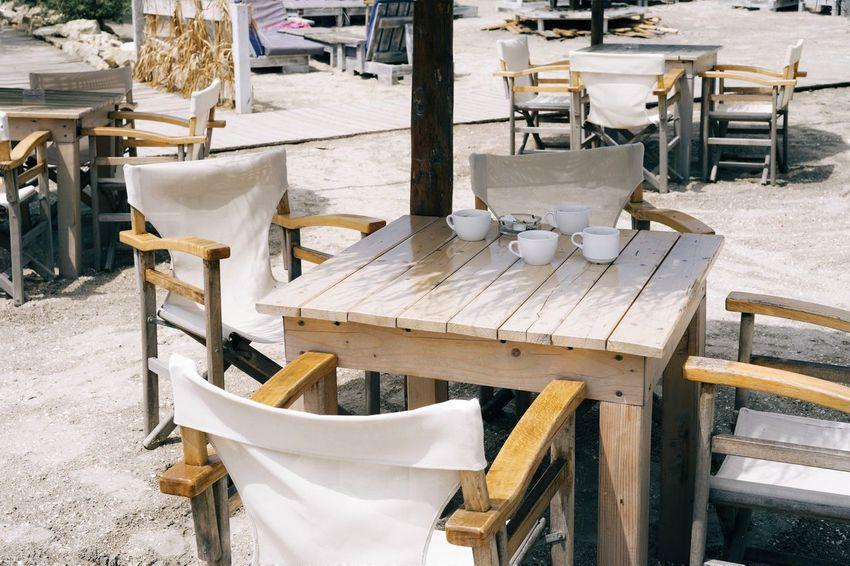 Chair Chairs Wood Wood Chair Bar Beach Beach Life Beach Bar Industry Working Business Finance And Industry Chair Wooden Sandy Beach Sand