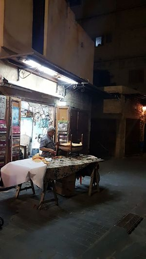 Sidon Lebanon Small Business Heroes Metal Industry Abandoned Chair Damaged Bad Condition Broken