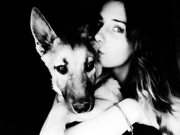 Who ever said that diamonds were a girls best friend? Allie & I <3 Love This Dog  German Shepherd Puppy