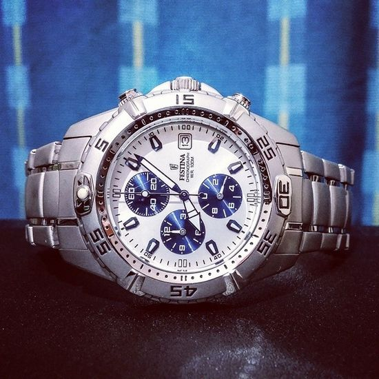 Timekeeper for the day Festina Watches Swiss Chronograph time