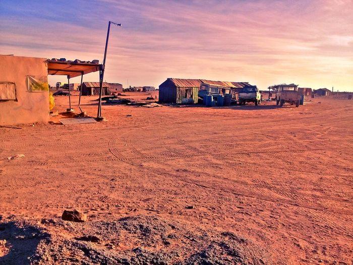 nowhere town Town Western Town Sahara Desert Sahara Town Desert Sunset Sand Sand Dune Sky Landscape