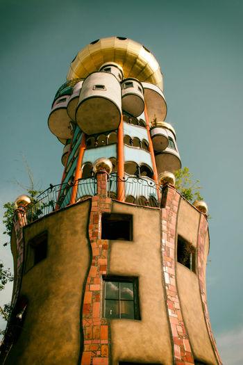 Minimalist Architecture Hundertwasser Hundertwasser-Haus Hundertwasserhaus Abendsberg