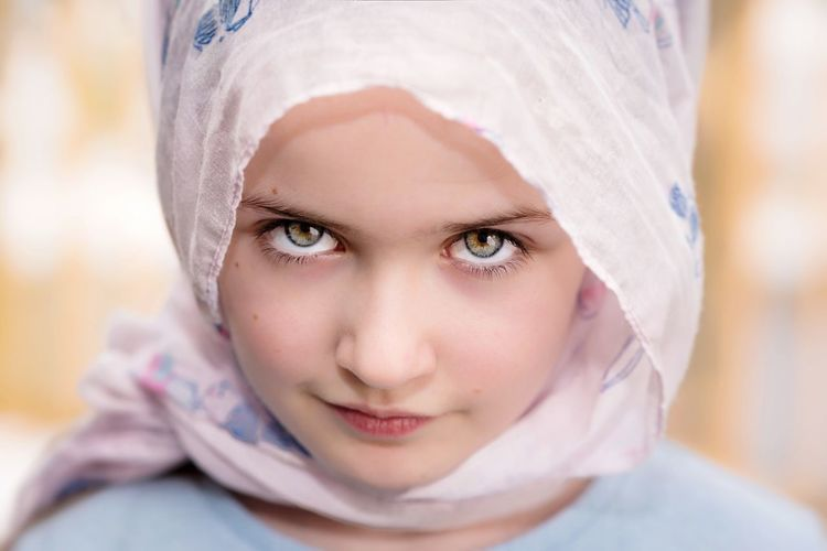 Mollie Portraits EyeEm Masterclass EyeEm Gallery EyeEm Portraits Portrait Headshot One Person Child Childhood Front View Offspring Girls Looking At Camera Women Close-up Headscarf Body Part Beauty Human Face Hood - Clothing Females Indoors