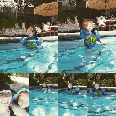 Another day at the pool with my baby. MommysGirl Texasheat Poollife