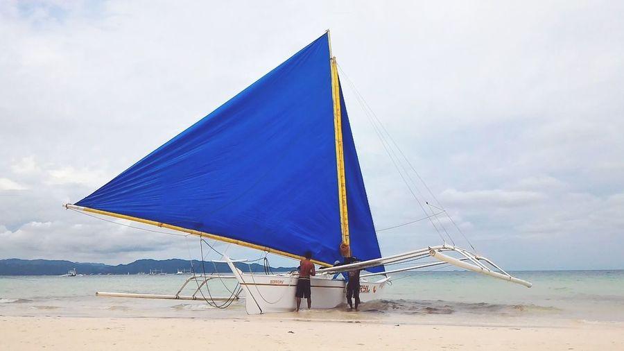 Missin the beach Boracay EyeEm Selects Beach Sea Sand Water Day Nature Sky Sailing Regatta Sailboat Triangle Shape