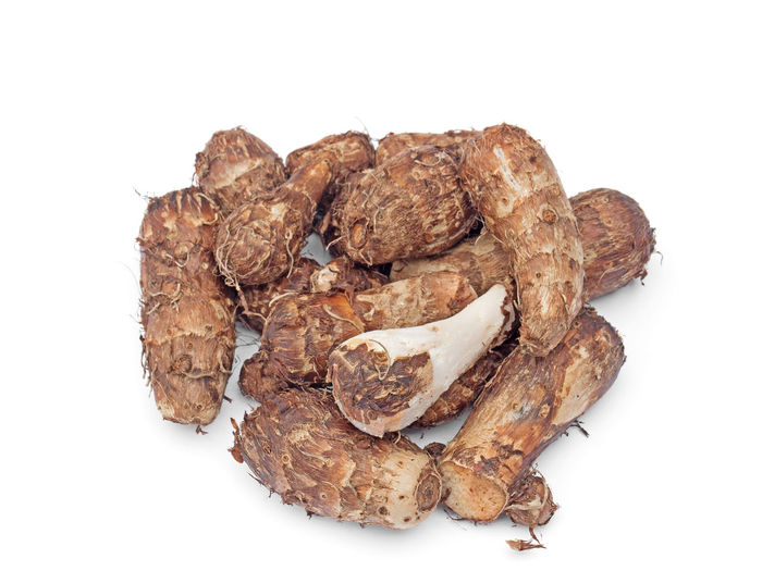 Group of Taro Root Isolated on White Background White Background Studio Shot Food And Drink Food Still Life Freshness Healthy Eating Close-up Brown Ingredient Fruit Snack Taro Root Taro Root Roots Root Vegetable Agriculture Health Healthy Vegetable Vegetarian Food Tuber Yam Ready-to-eat