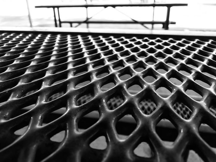 Your life slows down when you don't have your own transportation. You can go when you please. Having to call for a ride every time...it's a burden... Waiting Time Bench Blackandwhite Pattern No People Metal Close-up Day Outdoors In A Row Empty Focus On Foreground Chair Selective Focus Textured