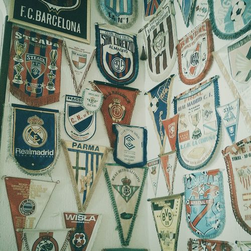 Football memorabilia Football Football Life Football Fans Football Teams Backgrounds Full Frame Close-up Indoors