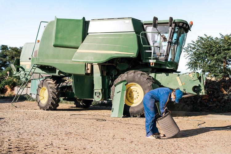 Men working on farm