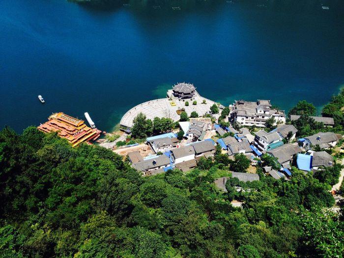 Residential Buildings By Lake