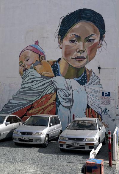 Mother and child Graffiti, Wall Graffiti, Art, Wall Art, Graffiti Ar