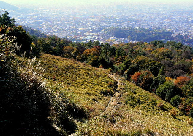 Autumn Autumn Colors City Views Daimonji Mountain Kyoto Mountain Tourism Travel Destinations