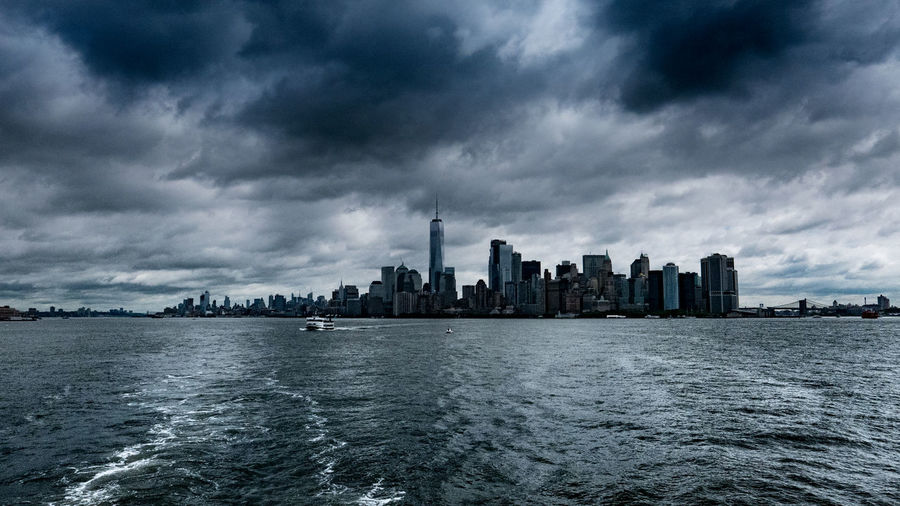 Architecture Building Exterior City Cityscape Cloud - Sky Modern New York New York City New York Skyline  Skyscraper Storm Cloud Urban Skyline Water