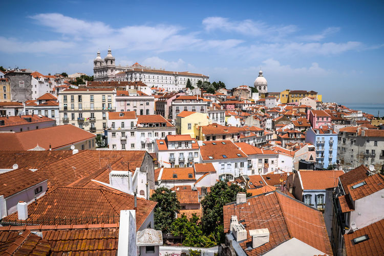 Lisbona panorama Outdoors Sky Vacations Travel Destinations Cityscape Town Building Exterior Urban Skyline City Day Lisboa Portugal Lisbon, Portugal Streetphotography Architecture Travelphotography Vacations Destination Citycolors