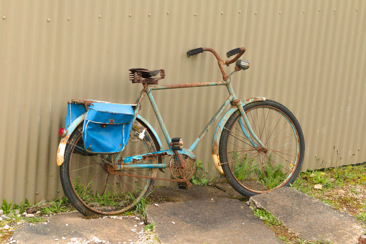 Bicycle Bicycles Bike Bikes Blue Day Fahrrad Land Vehicle Mode Of Transport New Zealand No People Old Bicycle Outdoors Rusty Stationary Transportation