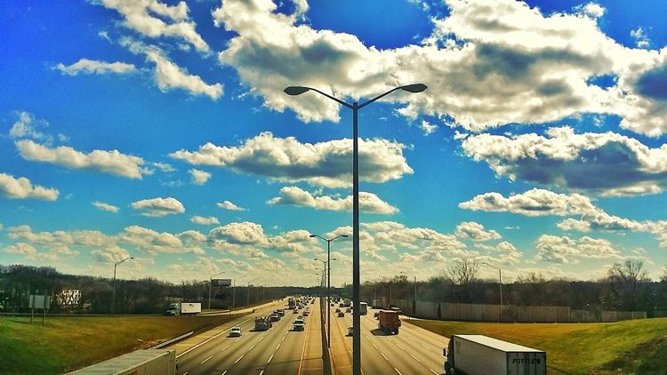 Street Light Lighting Equipment The Way Forward Sky Day Cloud City Life Cloud - Sky No People Diminishing Perspective Long Ominous Sky Sky And Clouds Traffic Fluffy Clouds Dramatic Sky Colour Of Life Eyeem Photo Enjoying Life