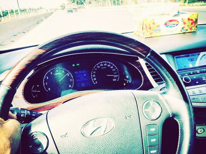 😍😍AZERA Car Car Interior First Eyeem Photo Speedometer Transportation