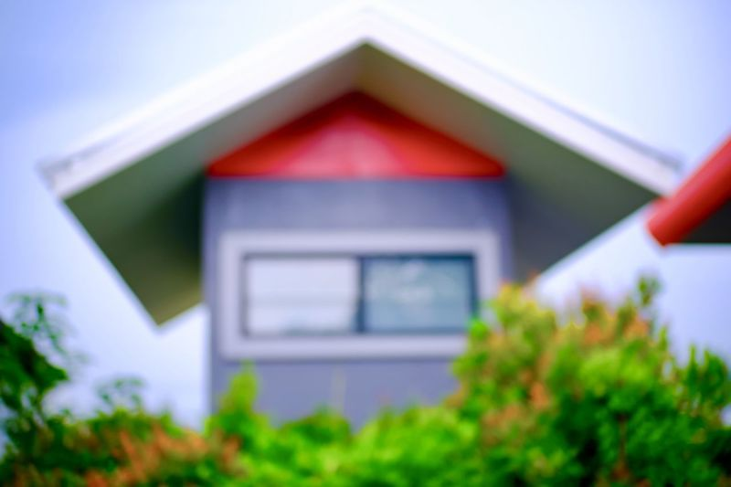 Architecture Built Structure Building Exterior No People Building House Day Focus On Foreground Plant Selective Focus Outdoors Nature Window Green Color Close-up Low Angle View Wood - Material Red Tree Creativity