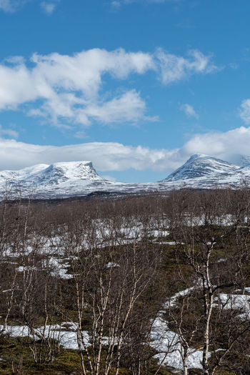 Lapporten Abisko 4 Abisko Beauty In Nature Cloud - Sky Cold Temperature Day Lake Landscape Lapporten Mountain Nature No People Outdoors Scenics Sky Snow Snowcapped Mountain Sweden Tranquil Scene Tranquility Winter