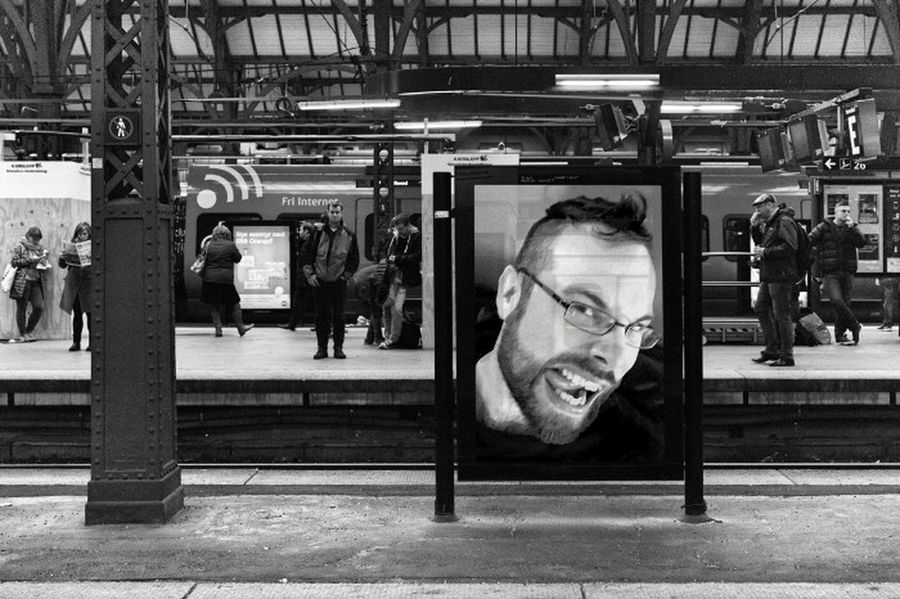 Me at the train station. Real People People Urban Train Station Black And White Photoshop