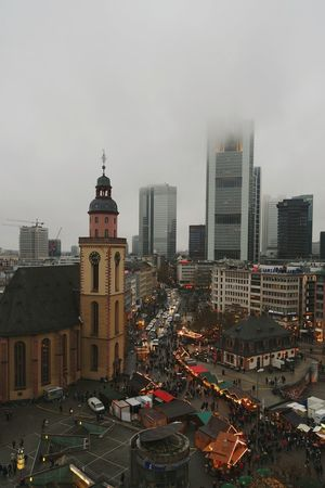 christmastime in Frankfurt.... Urban Landscape Frankfurt Am Main Urban Photography Modern Architecture Skyscrapers In The Clouds