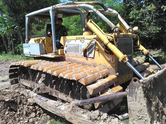 Buldozer Day Heavy Equipment Land Vehicle Nature No People Outdoors Tree