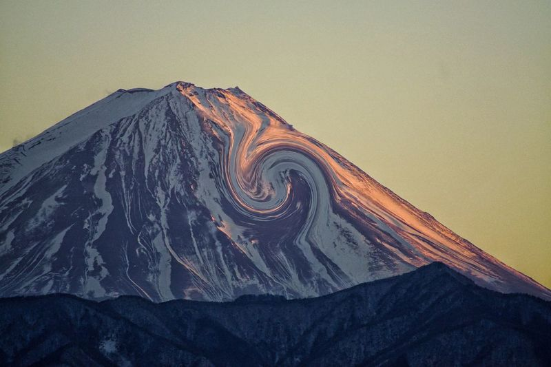 Mtfuji Eyeemphotography EyeEm Nature Lover Photography Mountain Mtfuji No People Nature Architecture Textured  Pattern Built Structure My Best Photo Sky Low Angle View Travel Destinations