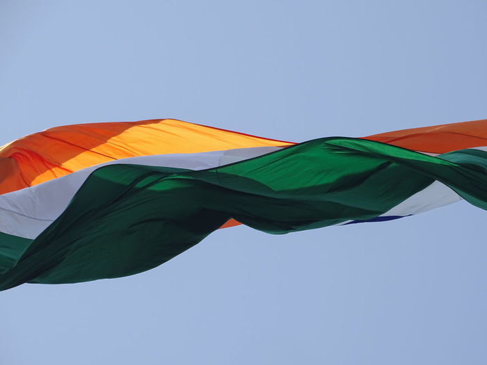 Tallest indian tricolor flag hoisted for independence day and republic day celebrations