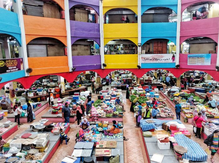 Pasar Siti Khadijah, Kota Bharu, Kelantan Colour Of Life Landscape Architecture Travel Destinations Market Stall Lot Of Colors First Eyeem Photo Peoples Of The World