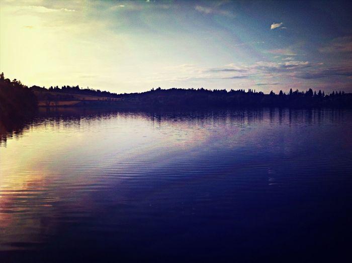 Sunset Dam Sunset Peace And Quiet