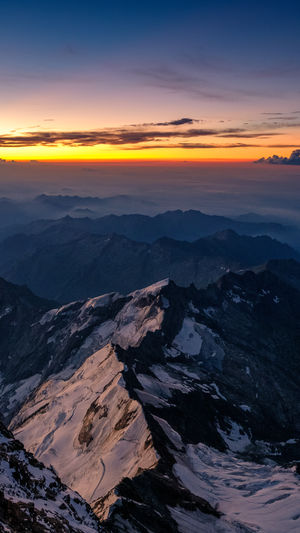 Sunset_collection Aerial View Beauty In Nature Cloud - Sky Day Landscape Mountain Mountain Range Nature No People Outdoors Scenics Sky Sunset Tranquil Scene Tranquility Italy 🇮🇹 Landsscape Rifugio Regina Margherita Glacier Alps Monte Rosa