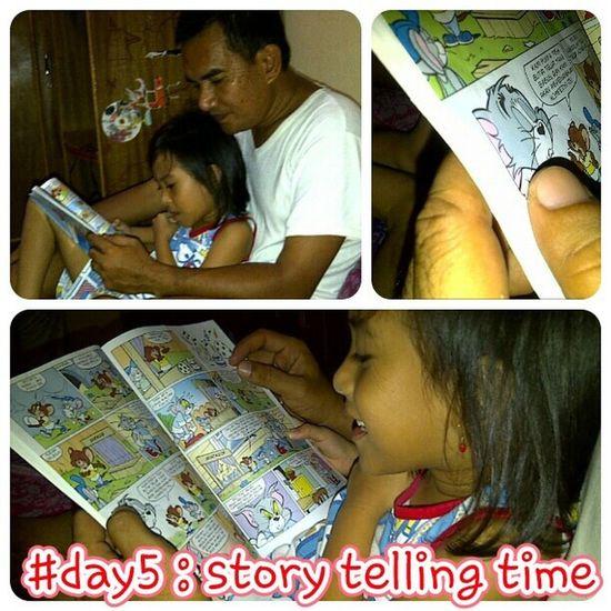 Day5 story telling time... @elfacaca suka bgt baca, bahkan dr kecil walopun liat gambar2nya aja... sbelum bs baca dg lancar biasamya selalu minta dibacain buku, gk waktu mo bubu aja tp waktu2 lain jugaaa..stelah lancar baca jg ttp minta dibacain kadang2..papitos nih yg jago bgt jd story tellernya...dengan suara2 dan mimik lucunya..moga2 minat bacanya terus tumbuh ya nak.. Likemotherlikedaughter Likefatherlikedaughter Parentkidsphotovideochallenge septemberphotochallenge photochallenge wnephotochallenges alfanova tepocece elfacaca storytelling bukuanak