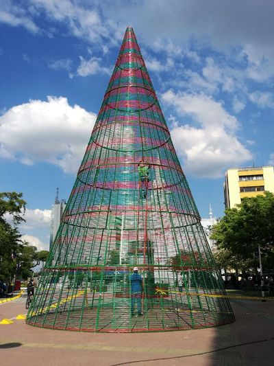 Christmas Christmas Preparations The Week On EyeEm Architecture Building Exterior Built Structure Christmas Decoration Cloud - Sky Day Low Angle View Outdoors Pyramid Sky Tree