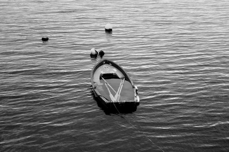 Blackandwhite Photography Black And White Photography Ocean View Oceanside Atlantic Atlantic Ocean Tourism Wildlife & Nature SPAIN Coruña Seascape Oar Paddle Paddleboarding Oars Paddling Top View No People Water Nautical Vessel Sea Waterfront Boat Sailing Boat Calm Calm Ocean Silhouette Sailing Water Vehicle