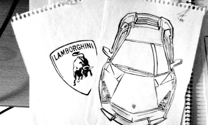 Helloworld Drawings My Drawings Lamborghini Lambo Car Collection Fast Cars Pencil Drawing Pencilart Black & White