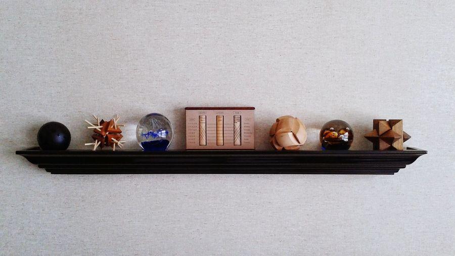 Centerpiece on shelf
