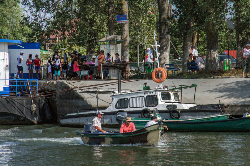 Danube Delta Danube Adult Adults Only Day Large Group Of People Leisure Activity Men Nature Nautical Vessel Outdoors People Sitting Transportation Tree Water Waterway To Sulina Women