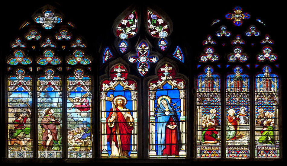 Art Cathedral Church Indoors  Place Of Worship Religion Spirituality Stained Glass